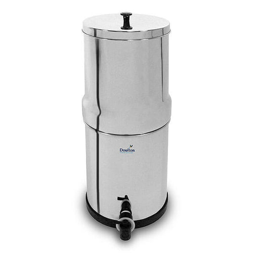 British Berkefeld Gravity Fed Water filter with Doulton Super Sterasyl Candles