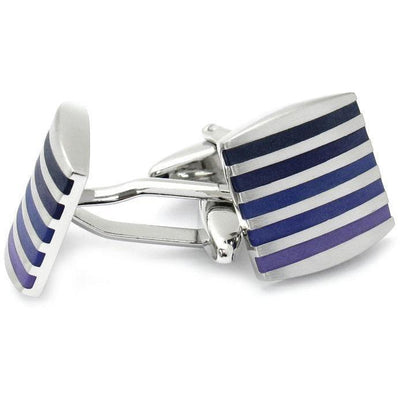 Silver with Purples Cufflinks