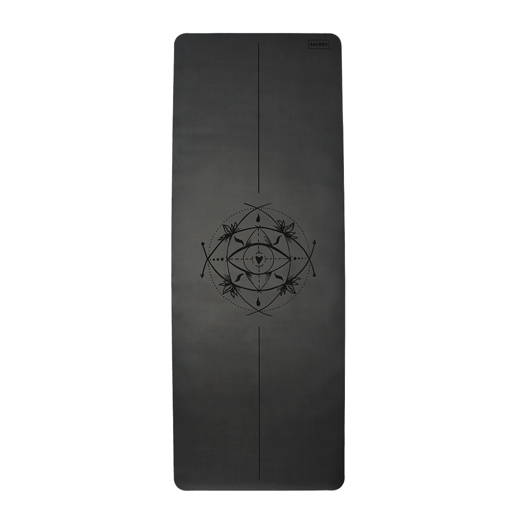 CORE SACRED EYE YOGA MAT (BLACK CHARCOAL)