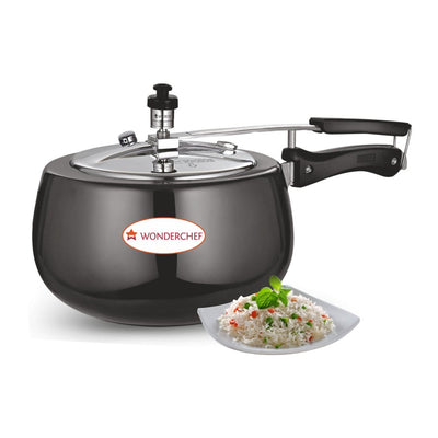 Wonderchef Raven Pressure Cooker Hard Anodized Inner SS Lid 5 Litres-Cookware