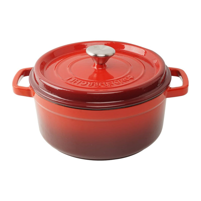 Wonderchef Ferro Cast-Iron - Casserole with Lid 24cm (Red)