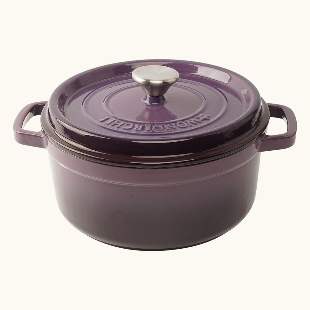 Wonderchef Ferro Cast-Iron - Casserole with Lid 26cm (Purple)
