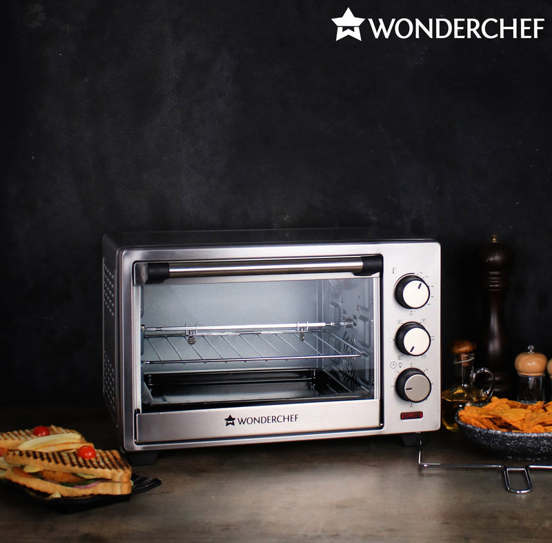 Wonderchef Oven Toaster Griller OTG 19L Steel-Appliances