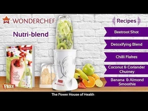 Wonderchef Nutri-Blend White With Free Serving Glass Set