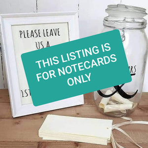 Wedding Message in a Bottle Notecards ONLY