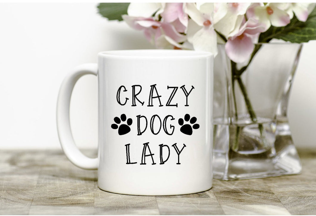 Crazy Dog Lady,Funny mug,Mug,Dog lover