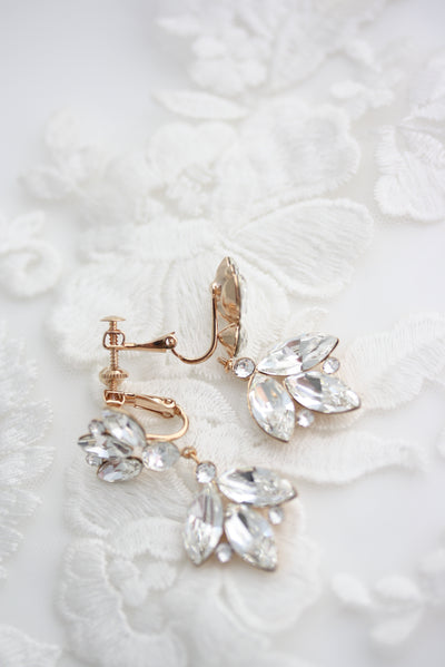 Tilly ClipOn Wedding Dangle Earrings