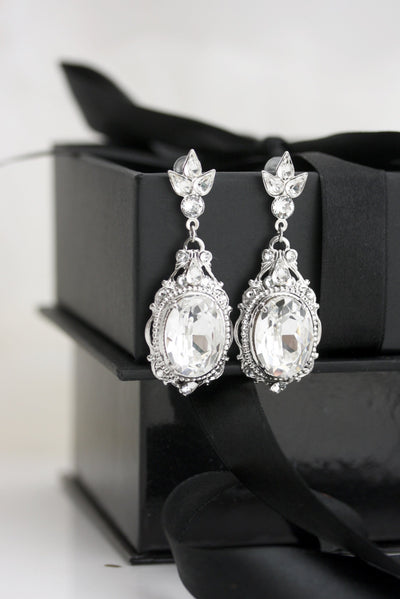 Ryan Crystal Bridal Earrings - Lulu Splendor