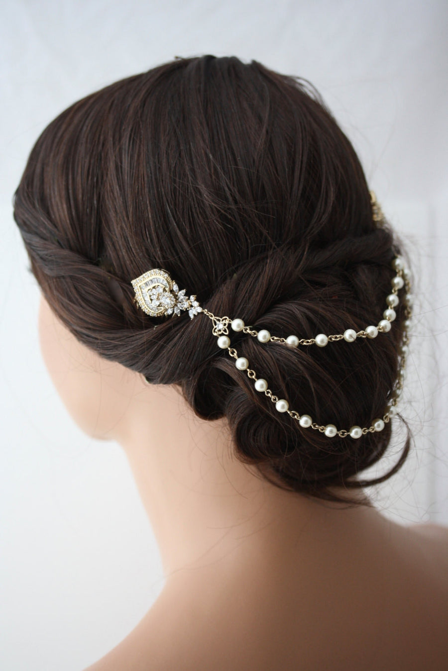 Evie Gold Wedding Hair Chain - Lulu Splendor