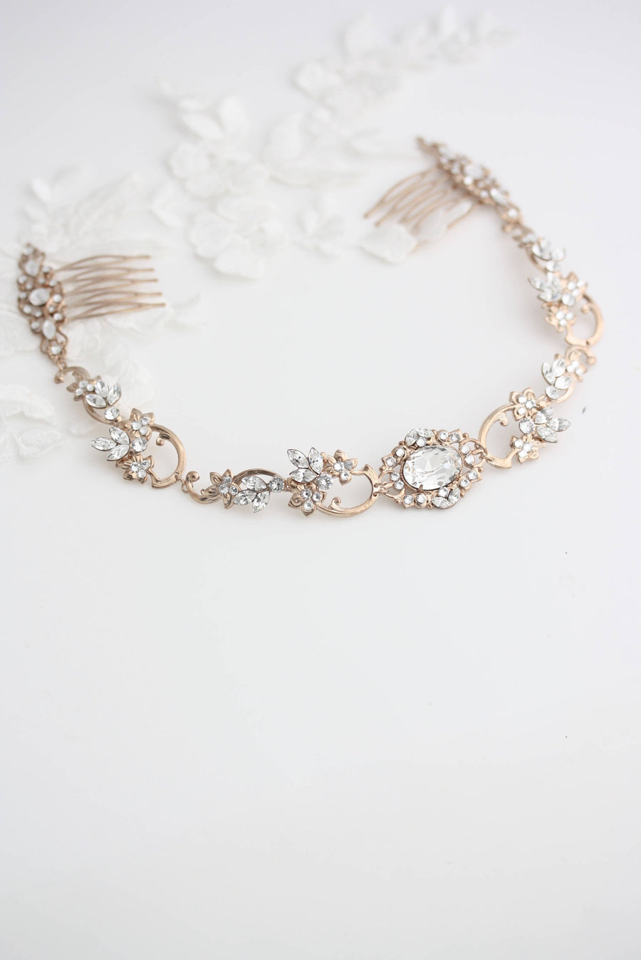 Ryan Bridal Halo Headpiece - Lulu Splendor