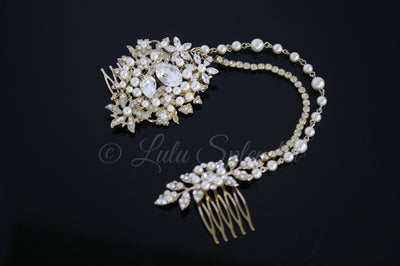 Ambria Gold Wedding Headpiece - Lulu Splendor