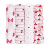 aden disney minnie 4pack muslin swaddles