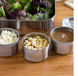 LunchBots Dips Leakproof Stainless Steel Condiment Containers 3x45ml