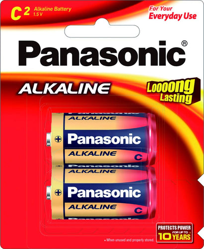 Panasonic Alkaline C Size LR14  (Pack of 2 Cells)