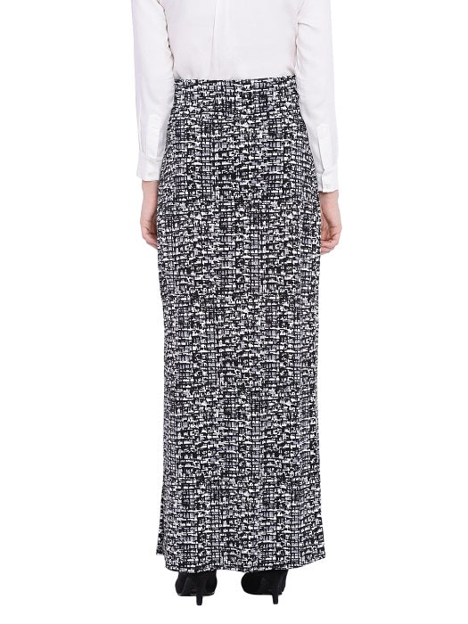 Black & White Maxi Skirt