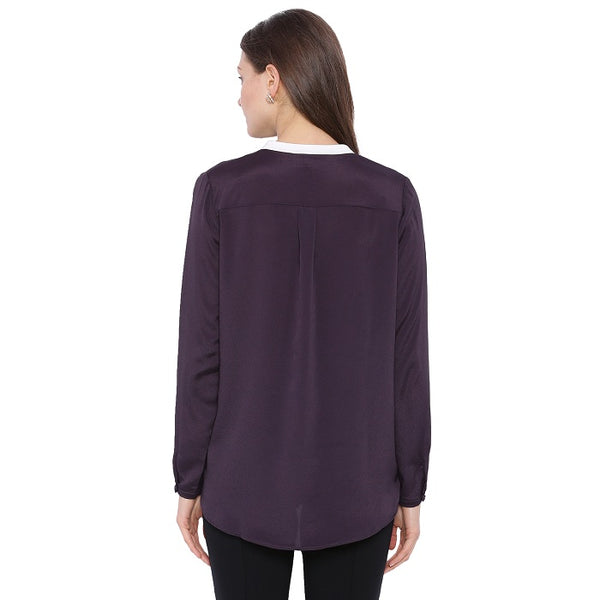 Purple Metallic Shirt