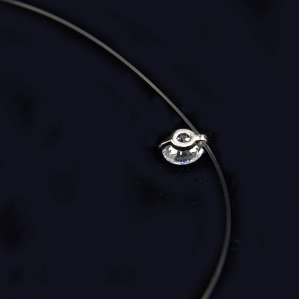 Fluhtr™ 8mm CZ Transparent Wire Necklace