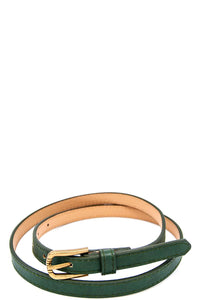 Skinny fancy color belt