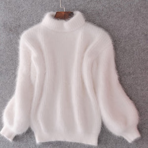 Fuzzy Vanilla Sweater