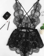 Load image into Gallery viewer, Black Lace Teddy