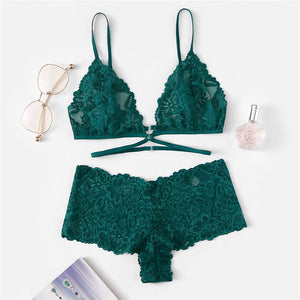 Emerald Green Lingerie Set