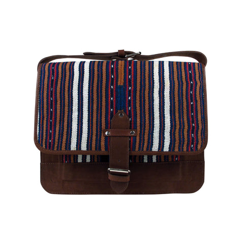 Solola Perraje Man Satchel Almond Navy