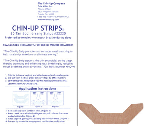TAN Boomerang Chin-Up Strip 30ct pack - FREE SHIPPING!