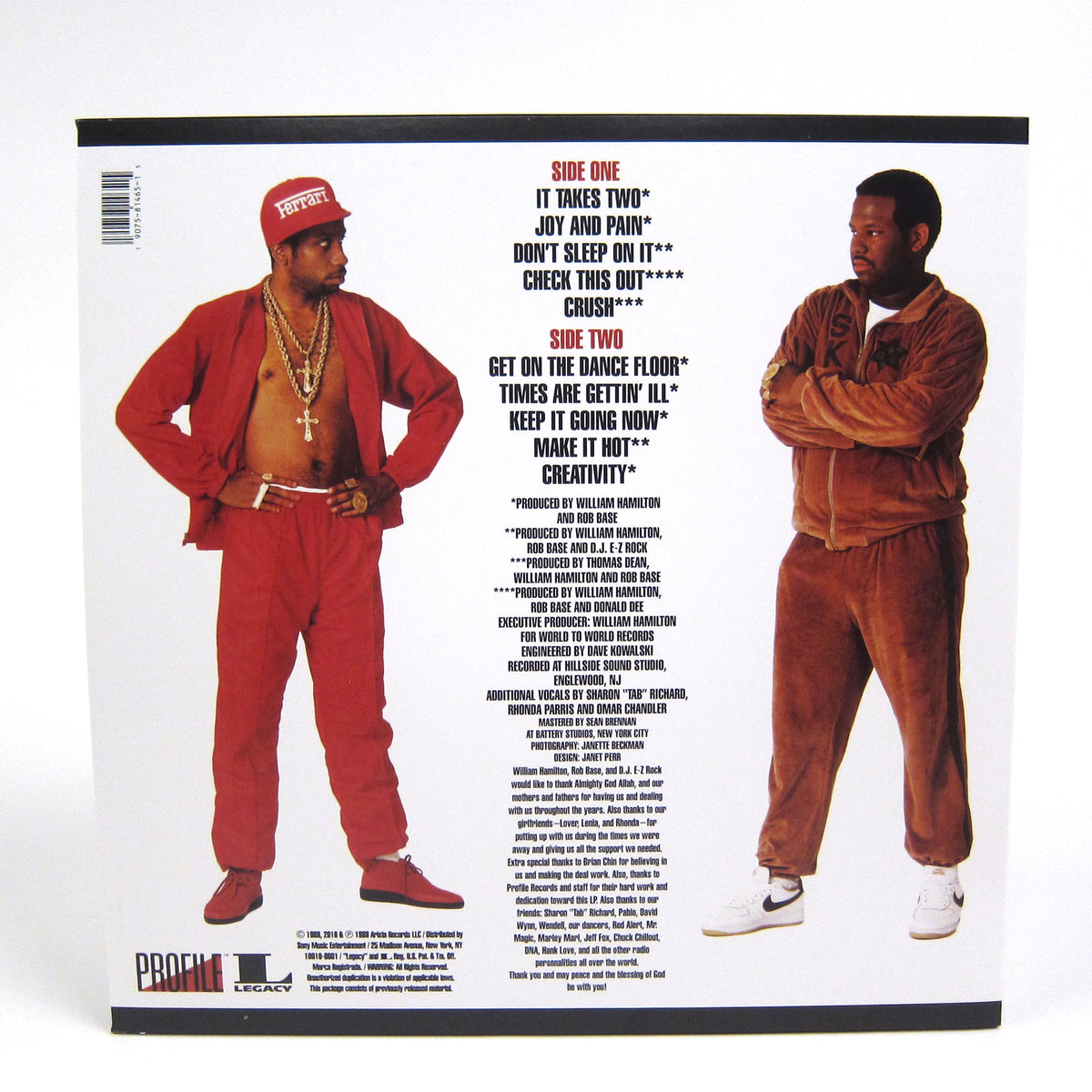 Rob Base & DJ E-Z Rock: It Takes Two (Colored Vinyl) Vinyl LP (Record Store Day)