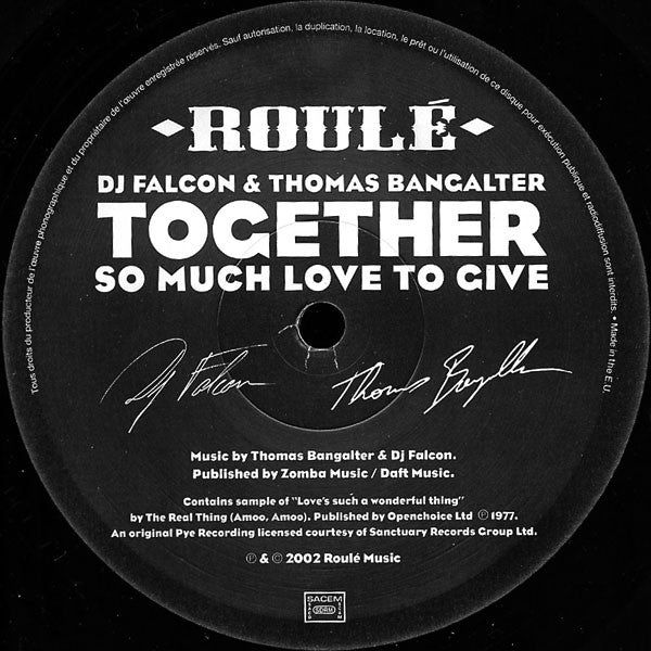 Together: So Much Love To Give (Daft Punk) 12""