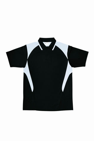 Active Golf Polo - Black/White