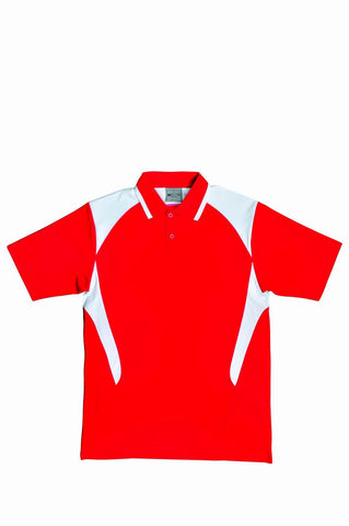 Active Golf Polo - Red/White