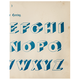 Egyptian for Carving (Modern Alphabets) (p 234)