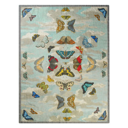 Shikara Berry Mirrored Butterflies Sky Throw