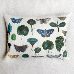 A Leaf and Butterfly Study Pillow