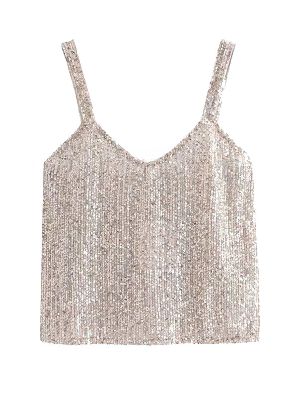'Desma' Sequinned Tank Top