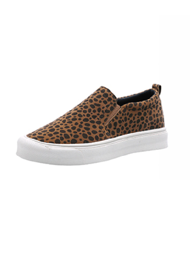 'Tammy' Leopard Print Slip On Sneakers (2 Colors)