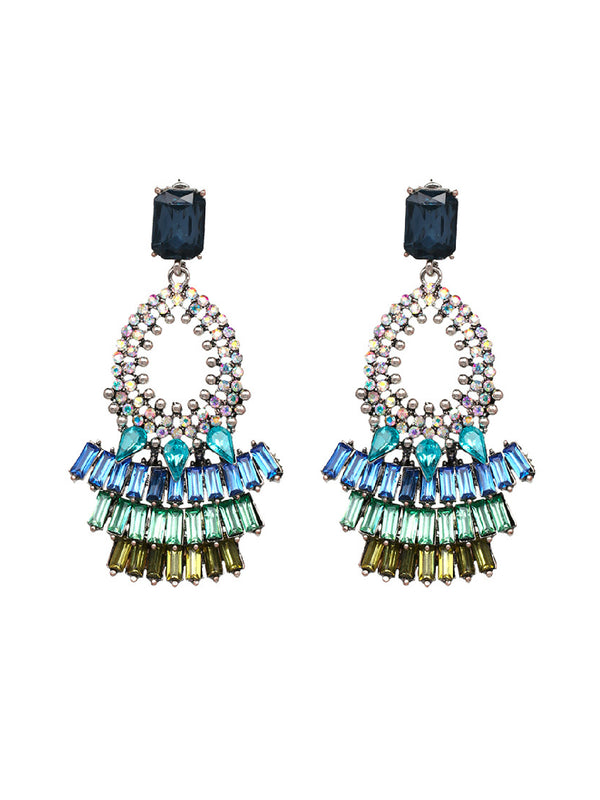 'Mury' Embellished Statement Earrings (4 Colors)