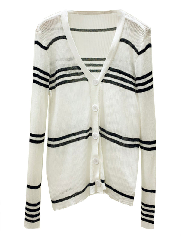 'Arika' Striped Lightweight Cardigan (2 Colors)