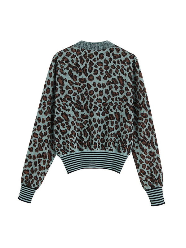 'Joey' Leopard Print Buttoned Cardigan