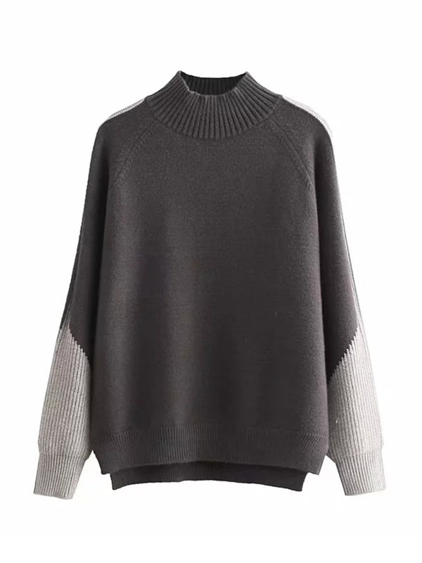 'Kelly' Ribbed Bi-color Sweater (2 Colors)