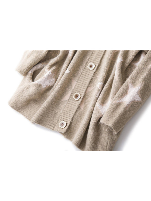 'Sarah' Soft Star Pattern Cardigan