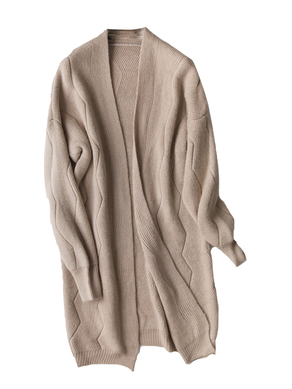 'Zac' Ribbed Wave Pattern Cardigan (3 Colors)