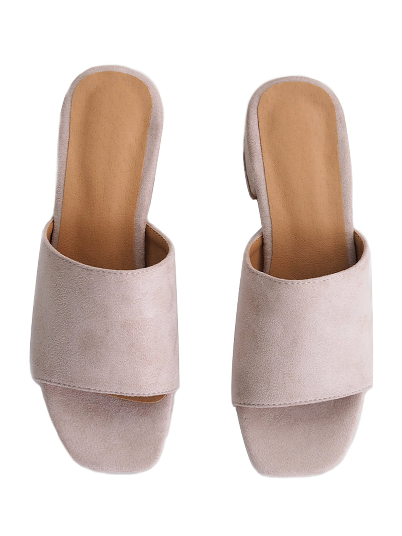 'Betsy' Suede Leather Heeled Mules (4 Colors)