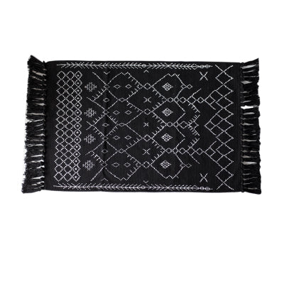 'Moho' Aztec Print Bohemian Fringed Rug (3 Colors)