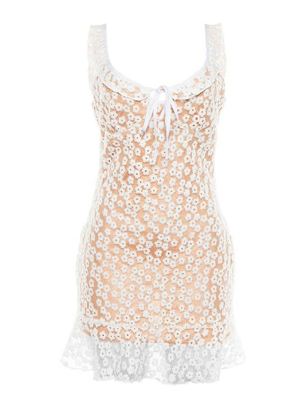 'Nabirye' Crochet Lace Bustier Mini Dress