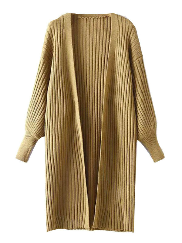 'Kelly' Lantern Sleeve Knitted Long Cardigan ( 3 Colors)
