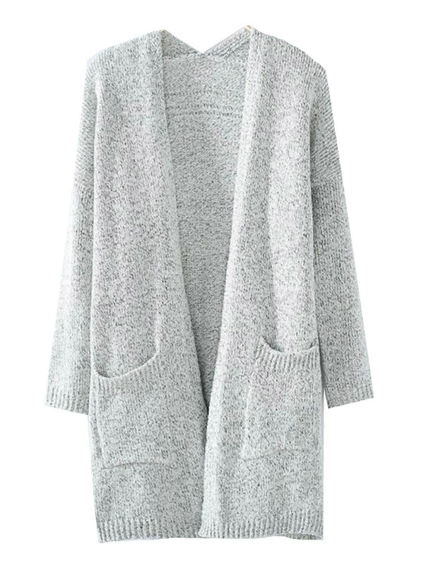 'Kirstin' Pocket Front Knitted Open Cardigan