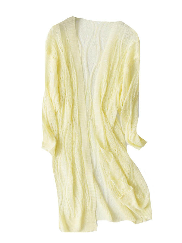 'Amanda' Lightweight Wave Pattern Cardigan (3 Colors)