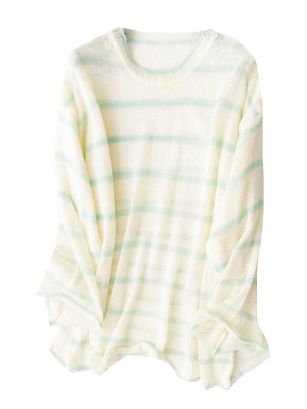'Kimberly' Sheer Lightweight Color Block Sweater (3 Colors)