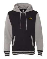 Vegas Royalty Varsity Hooded Full Zip Sweatshirt